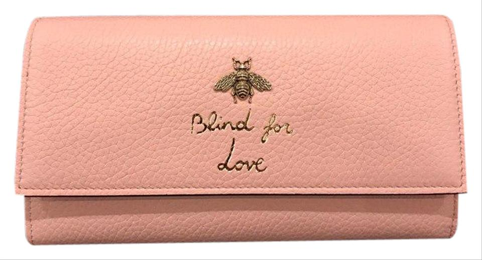 076fe66c515bb9 Gucci Gucci Blind For Love Rose Gold Bee Continental Button Clutch Wallet  Image 0 ...