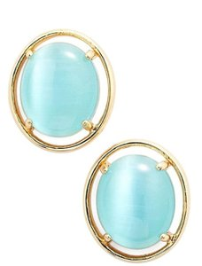 Kate Spade NEW kate spade New York Open Rim Studs in Turquoise Blue 12k Earrings