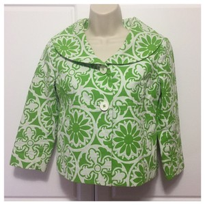 Lilly Pulitzer Green & White Jacket