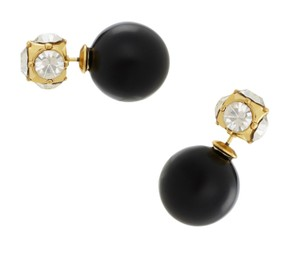 Kate Spade kate spade New York Two Tone Reversible Stud Earrings Jet Black Pearl