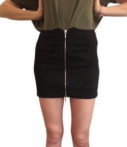BCBGMAXAZRIA Tight Sexy Summer Zipper Mini Skirt Black