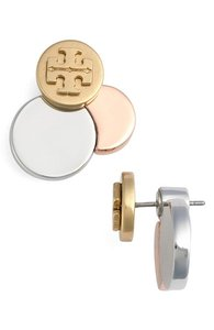 Tory Burch New Tory Burch Circle Cluster Ear Jackets Stud Earrings 16k Gold