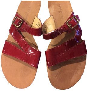 Paul Green Red and Tan Sandals