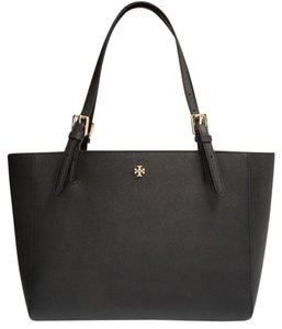 Tory Burch Small Buckle Tote in Black