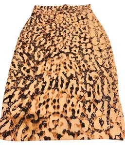 bebe Skirt animal/black