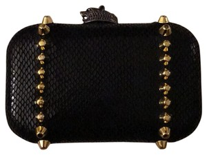 House of Harlow 1960 Black with gold studs Clutch