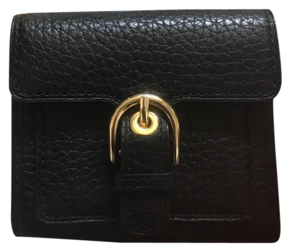 d31f93084b22 Michael Kors Black Grain Leather Cooper Medium Carryall Trifold Lady Wallet