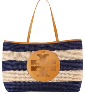 Tory Burch Tote in tory navy/natural