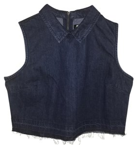 Fashion Union Top Dark wash denim