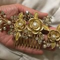 Crystal Comb Pearl Hair Accessory Crystal Comb Pearl Hair Accessory Image 2