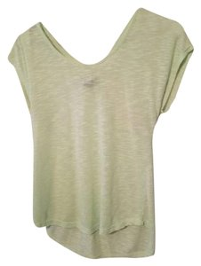 Wet Seal Cut-out Sheer T Shirt Green