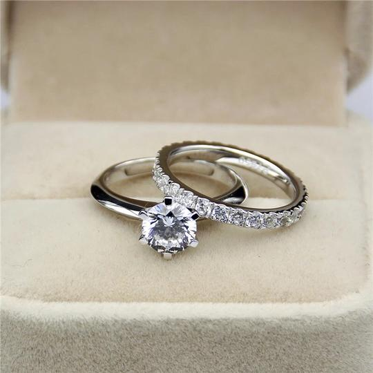 New All Sizes 4 5 6 7 8 9 10 Sona Diamond Engagement Eternity Band Set 2 Ct Solitaire Ring Image 2