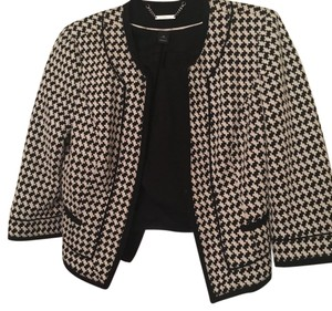 White House | Black Market black and white Blazer