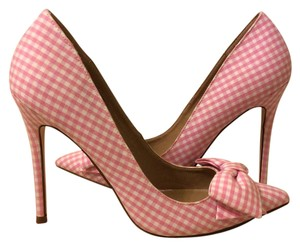 ASOS Gingham Pointed Toe Evening Formal Pink Gingham Pumps