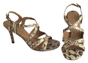 Via Spiga snakeskin, beige Sandals