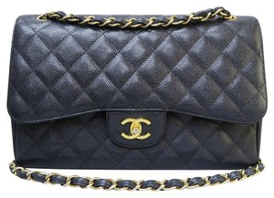 Chanel Jumbo Caviar Cf Shoulder Bag