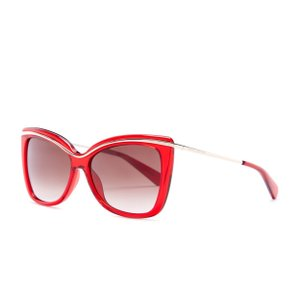 Marc Jacobs Marc Jacobs Women's Red & Gold Trim Cat Eye Sunglasses