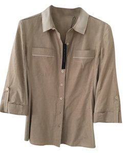 Elie Tahari Button Down Shirt Khaki