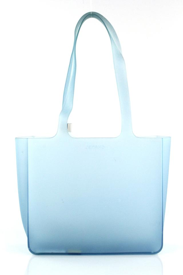 010f1d21aeb Chanel Jelly Clear Blue Rubber Tote - Tradesy