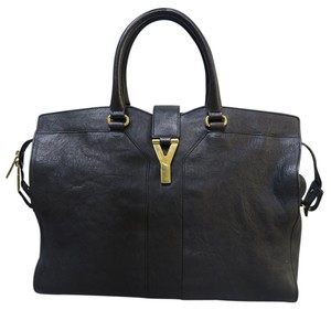 Saint Laurent Cabas Calfskin Y Tote in black