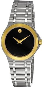 Movado Movado 0606466 Black Dial Stainless Steel Women's Watch