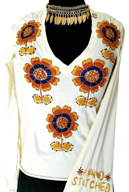 Item - Cream Johnny Was Blouse Size 6 (S)