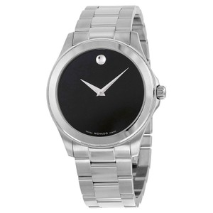 Movado Movado Junior Sport Black Dial SS Authentic Men's Watch