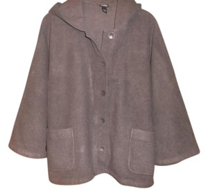 Eileen Fisher 100% Wool Hooded Cape