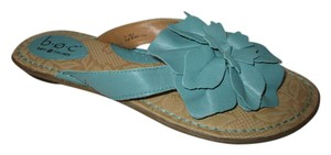 B.O.C. Leather Thong Floral Flower green Sandals
