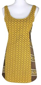 Judith March short dress brown, mustard yellow on Tradesy