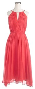 J.Crew Spaghetti Straps Assymetrical Silk Chiffon Wedding Prom Bridesmaid Dress