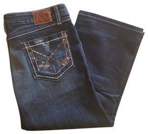 BKE Capri/Cropped Denim-Dark Rinse