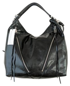 Rebecca Minkoff Glossy Leather Crossbody Strap Hobo Bag