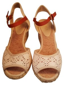 Ralph Lauren NATURAL Wedges