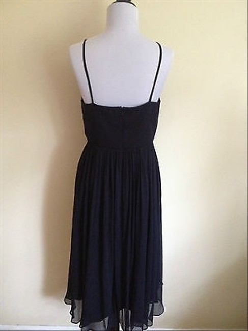 J.Crew Bridesmaid Sik Chiffon Assymetrical Spaghetti Straps Wedding Prom Dress