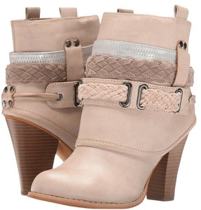 Mojo Moxy Western Cowgirl Cowboy Pull-on Cream/Ivory Boots