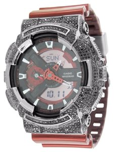 G-Shock G Shock Red GA110NM-4A Watch Black Lab Diamond Bezel Digital