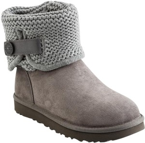 UGG Australia Suede Knit Grey Boots