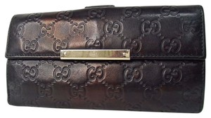 Gucci Gucci Shima Double Sided Leather Wallet