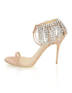 Giuseppe Zanotti Suede Crystals Heels Spring blush Sandals
