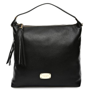Michael Kors Vanilla Bedford Large Leather Tote in Black