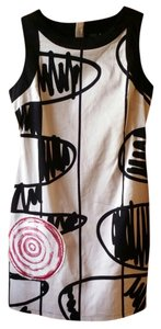 Desigual short dress White, black, red Sheath Sexy 60s Style And on Tradesy