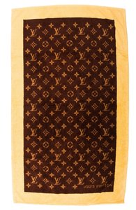Louis Vuitton Brown, yellow multicolor Louis Vuitton LV Monogram Beach Towel