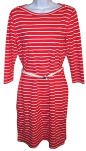 Lauren Ralph Lauren short dress Coral and White Nautical Belted Summer Spring Striped on Tradesy
