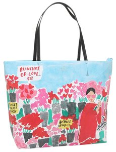Kate Spade Rose Market Hallie Leather Tote in MULTI