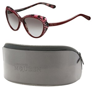 Alexander McQueen Pink Red cateye sunglasses Butterfly wing with case