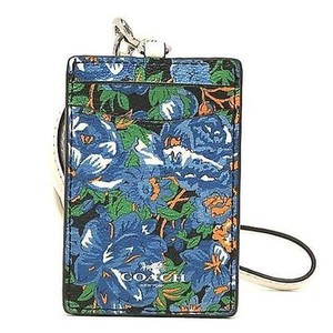 Coach Coach Rose Meadow Floral Lanyard ID Key Holder Card Case NWT