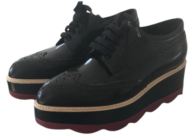 Item - Black Oxfords Red Sole Wedges Size US 7.5 Narrow (Aa, N)