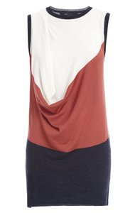 BCBGMAXAZRIA short dress NEUTRALS W/BURNT ORANGE POC Color Block Sleevelesss Comfortable on Tradesy