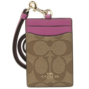 Coach Coach Bi-Color Canvas Leather Lanyard ID Key Holder NWT
